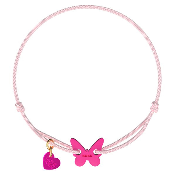 NARUKU - BUTTERFLY - Babypink-Pink
