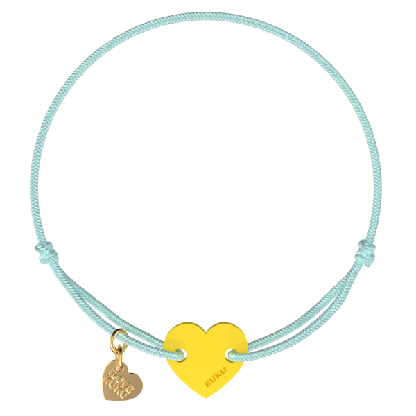 NARUKU - HEART - Babyblue-Yellow