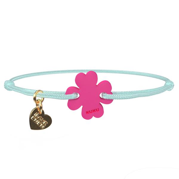 NARUKU - FOUR LEAF - Babyblue-Pink