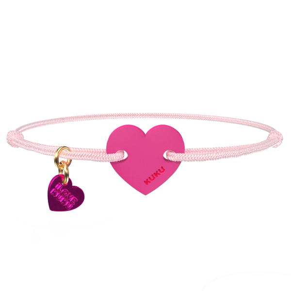 NARUKU - HEART - Babypink-Pink