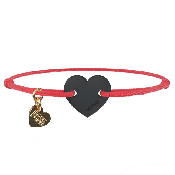 NARUKU - HEART -Red-Black
