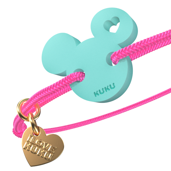 NARUKU - MICKEY LOVE - Neonpink-Babyblue