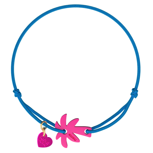 NARUKU - PALM TREE - Blue-Pink