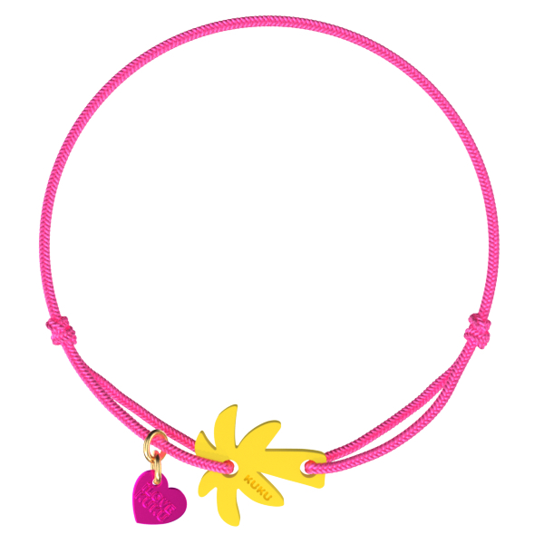 NARUKU - PALM TREE - Neonpink-Yellow