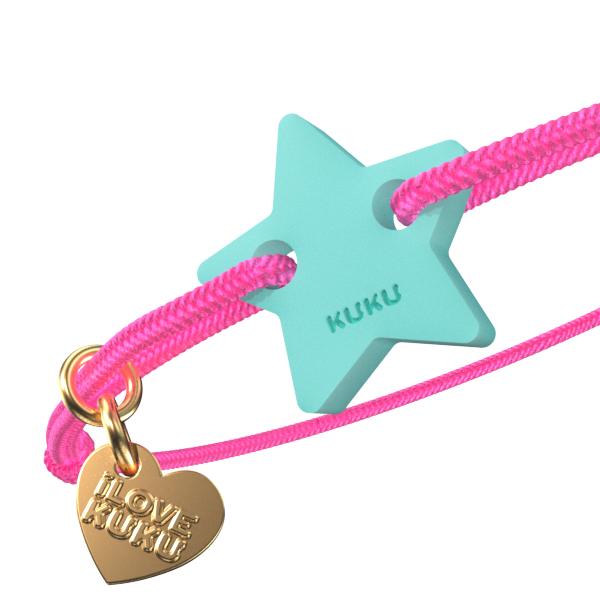 NARUKU - STAR - Neonpink-Babyblue