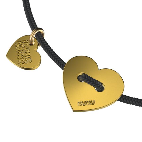 MINI - HEART: Black-Gold