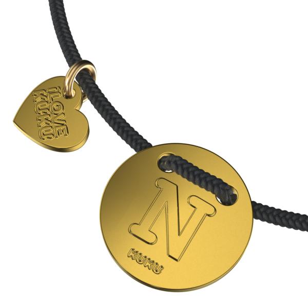 LETTER -N: Black-Gold